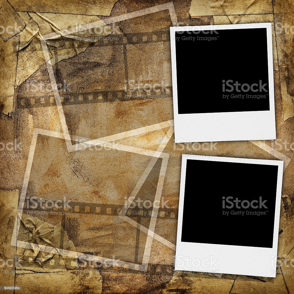 Two blank photographs royalty-free stock photo
