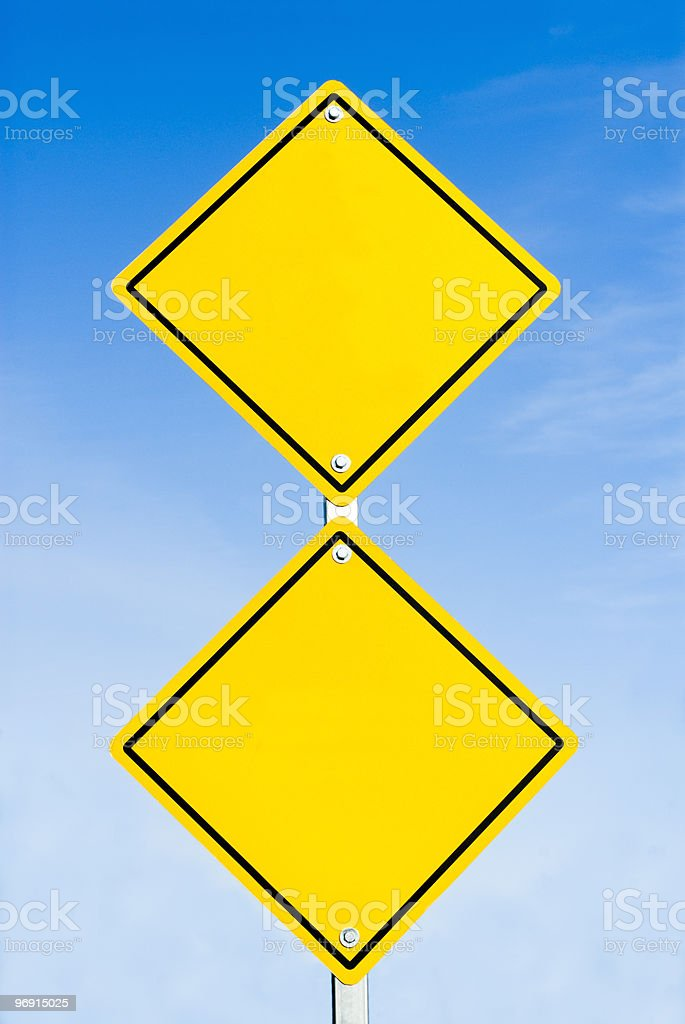 Two blank road signs royalty-free stock photo