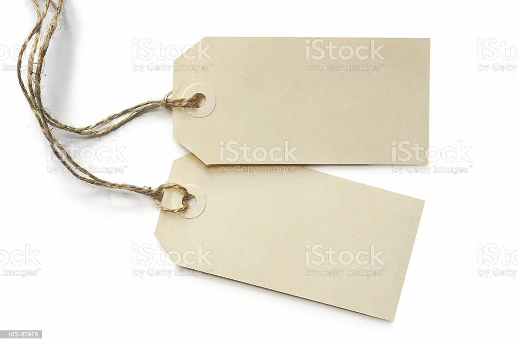 Two Blank Tags royalty-free stock photo