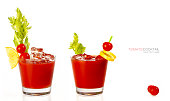 Two Bloody Mary Cocktails