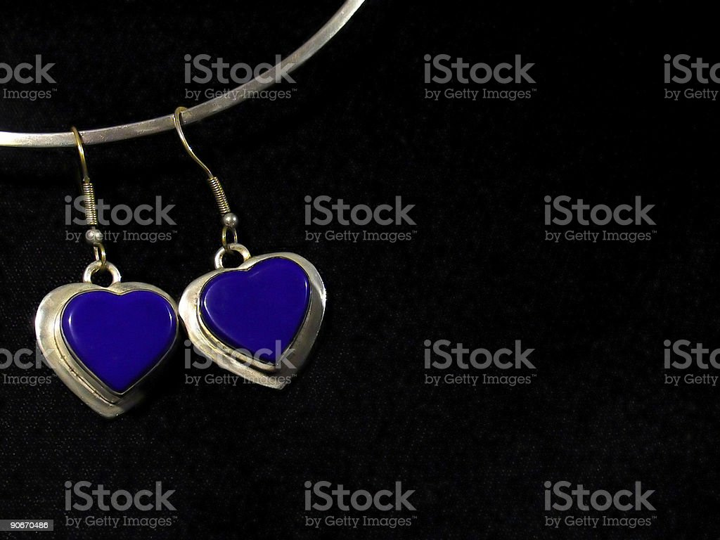 Two Blue Hearts royalty-free stock photo