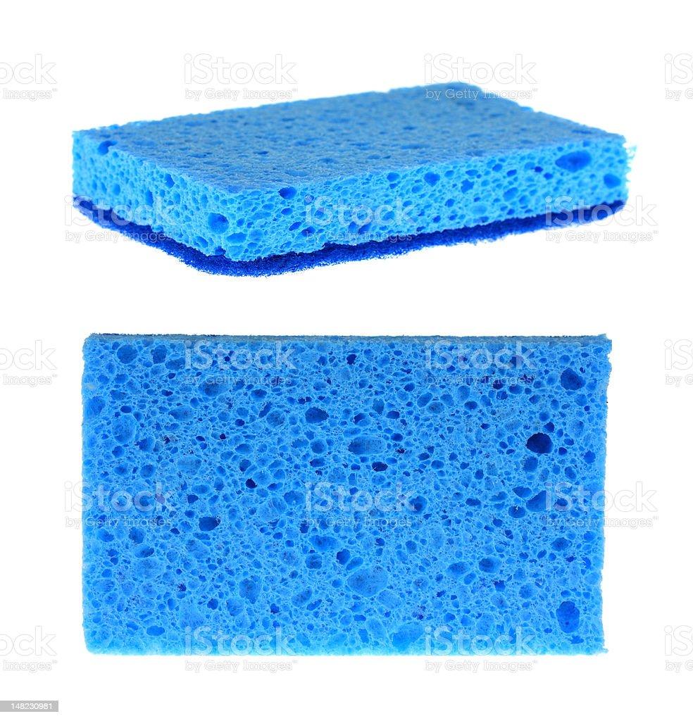 Two Blue Sponges stock photo