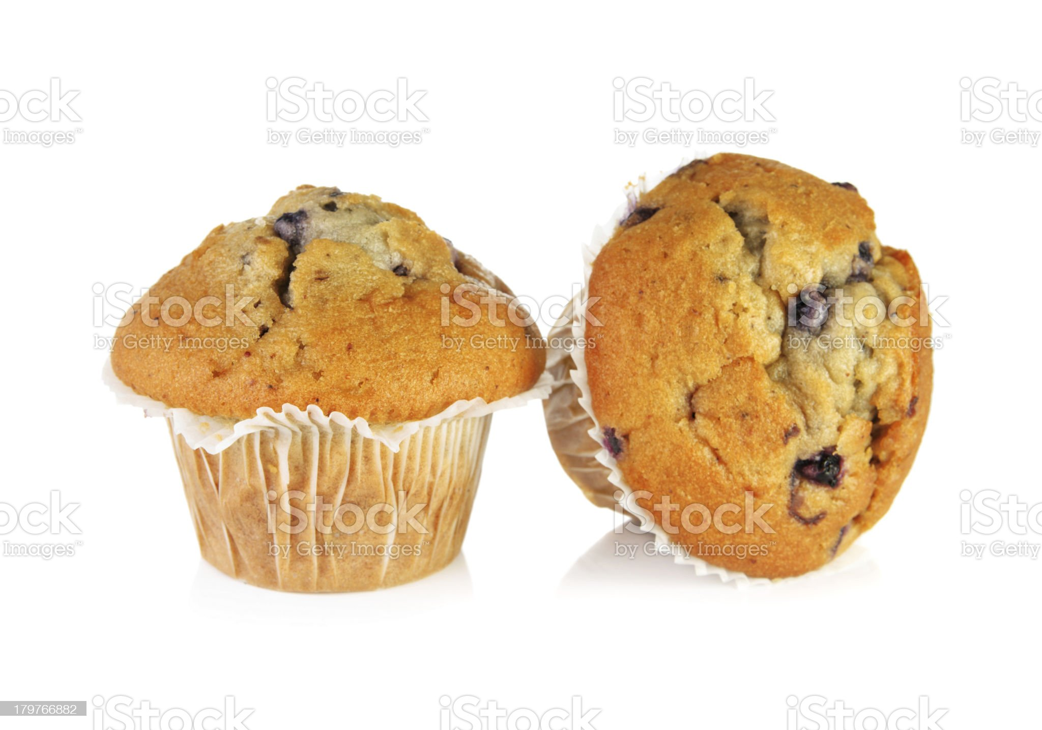 Two blueberry muffins royalty-free stock photo