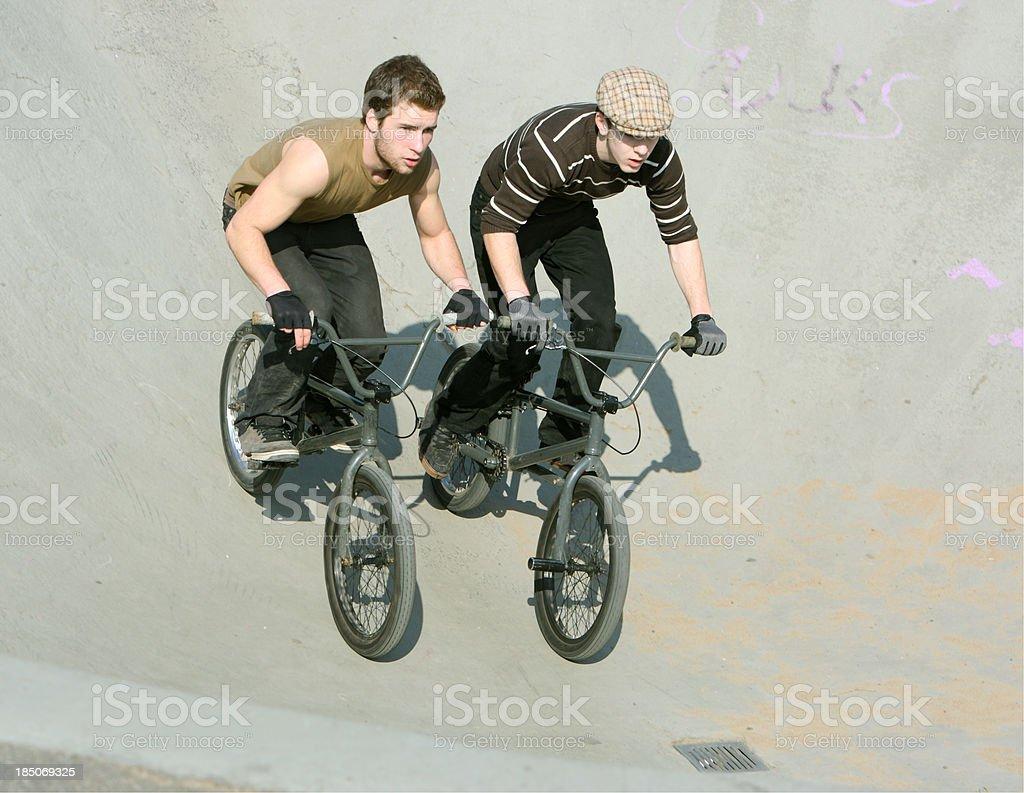 Two BMX Rider royalty-free stock photo