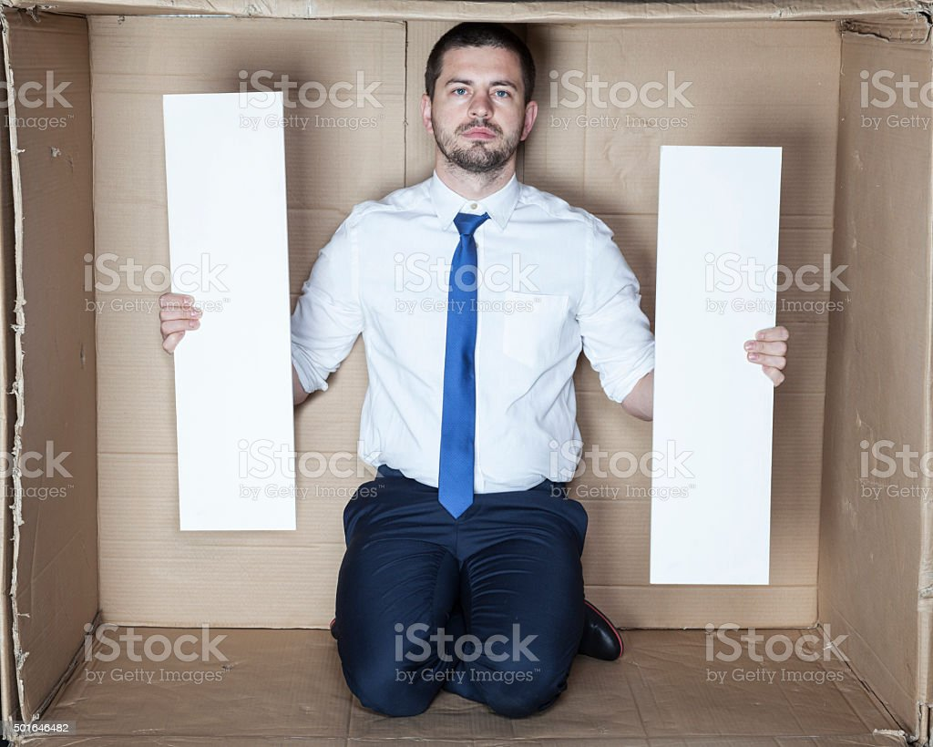 two board with copy space stock photo