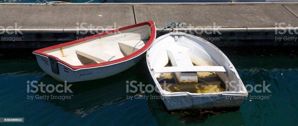 two boat at marina stock photo
