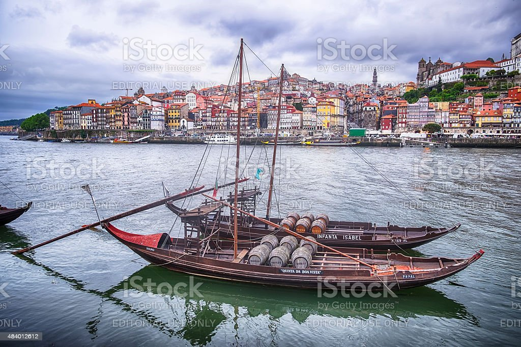 Two Boats On The Douro River stock photo