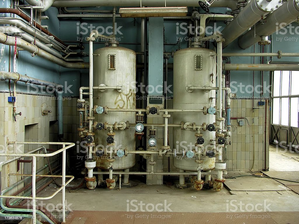 Two Boilers royalty-free stock photo