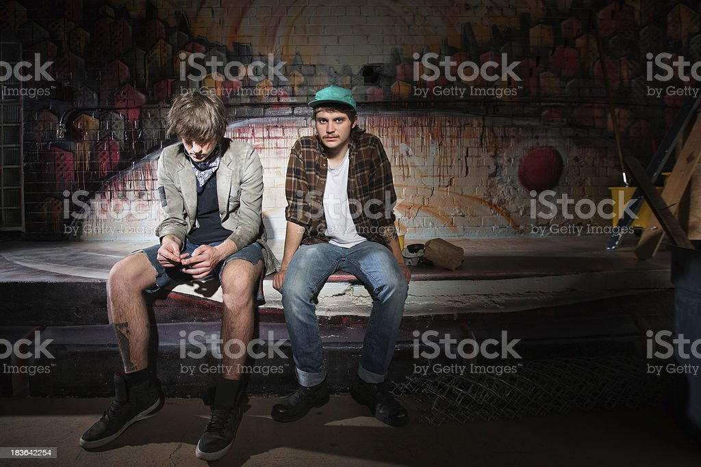 Two Bored Youth stock photo