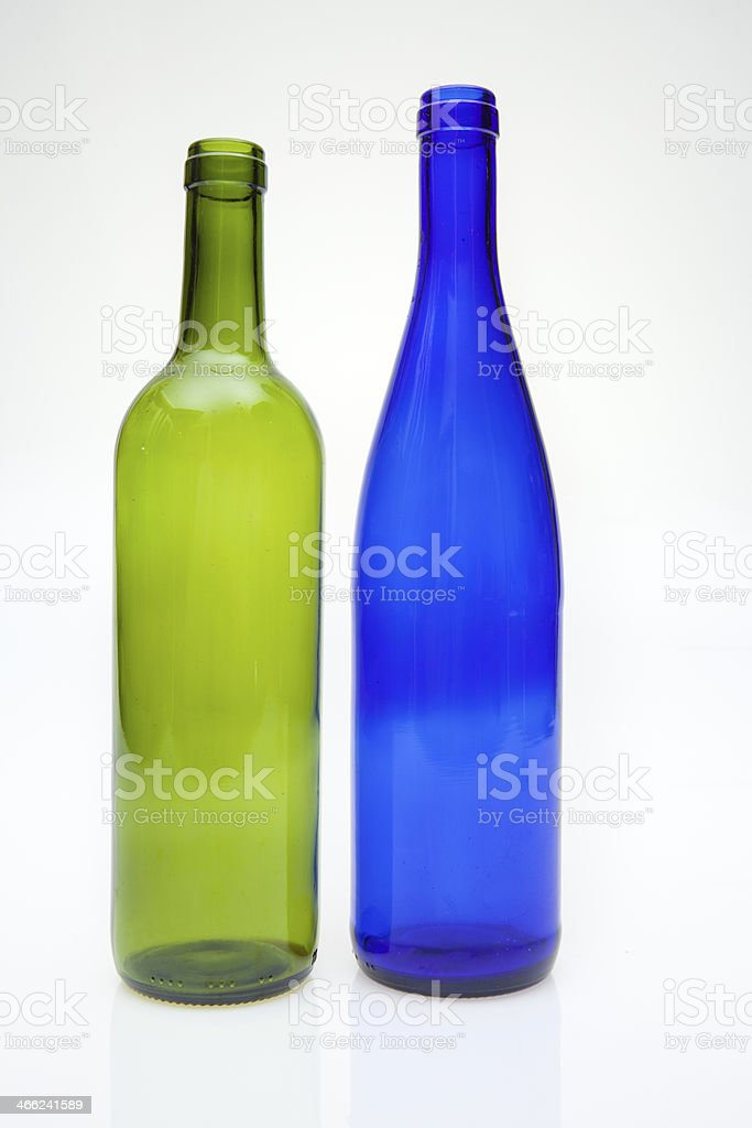Two bottles stock photo