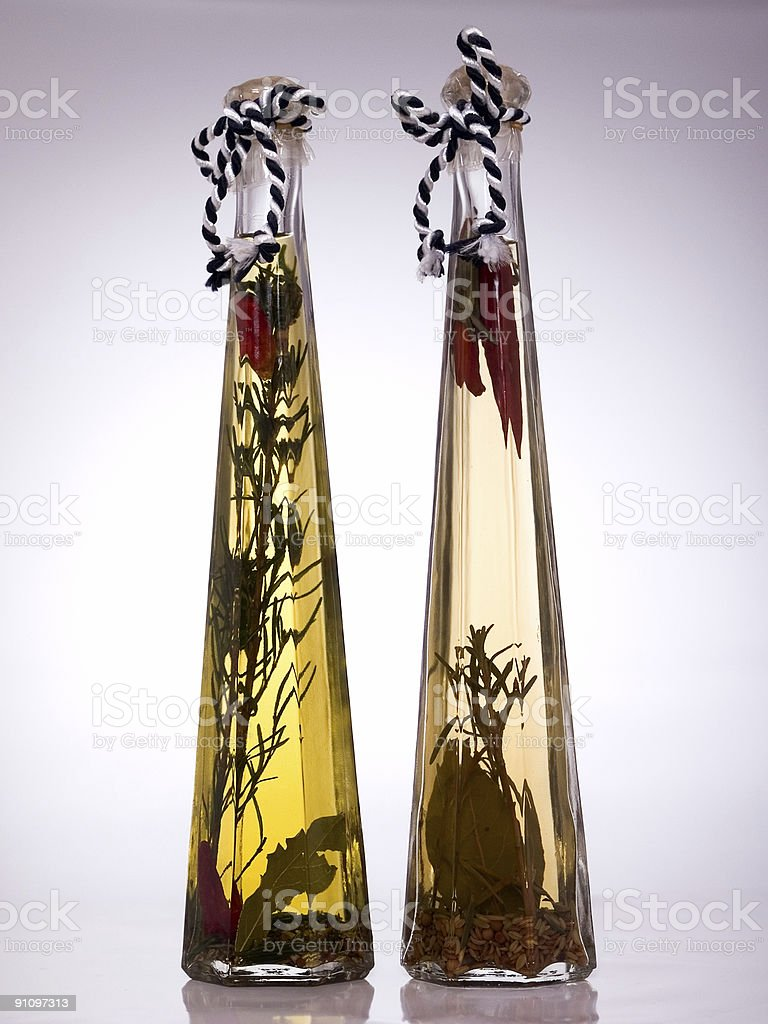 Two bottles royalty-free stock photo