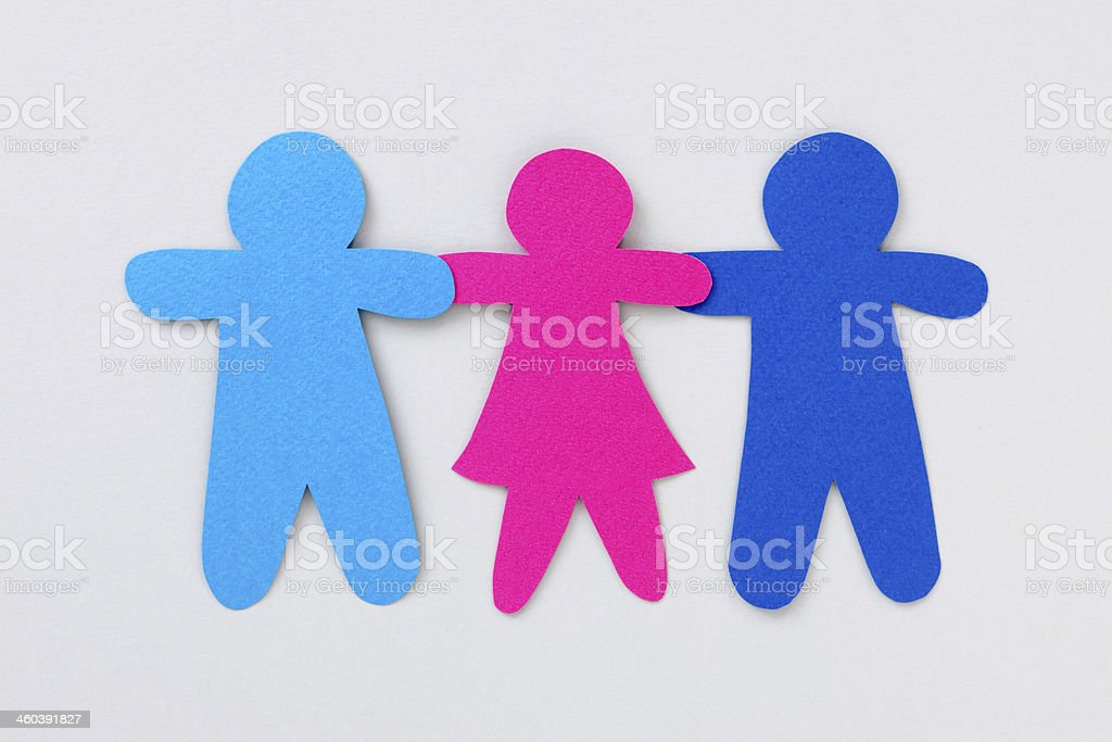 Two boys and a girl royalty-free stock photo