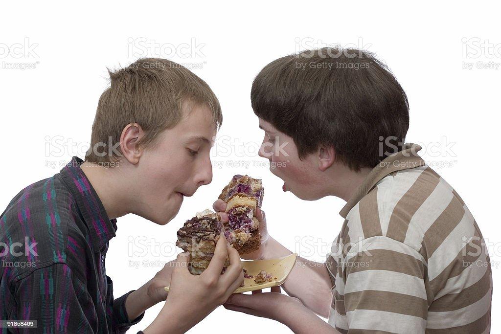 Two boys royalty-free stock photo