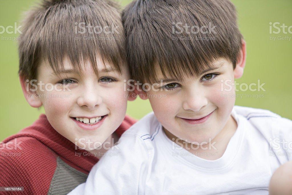 Two boys Portait royalty-free stock photo