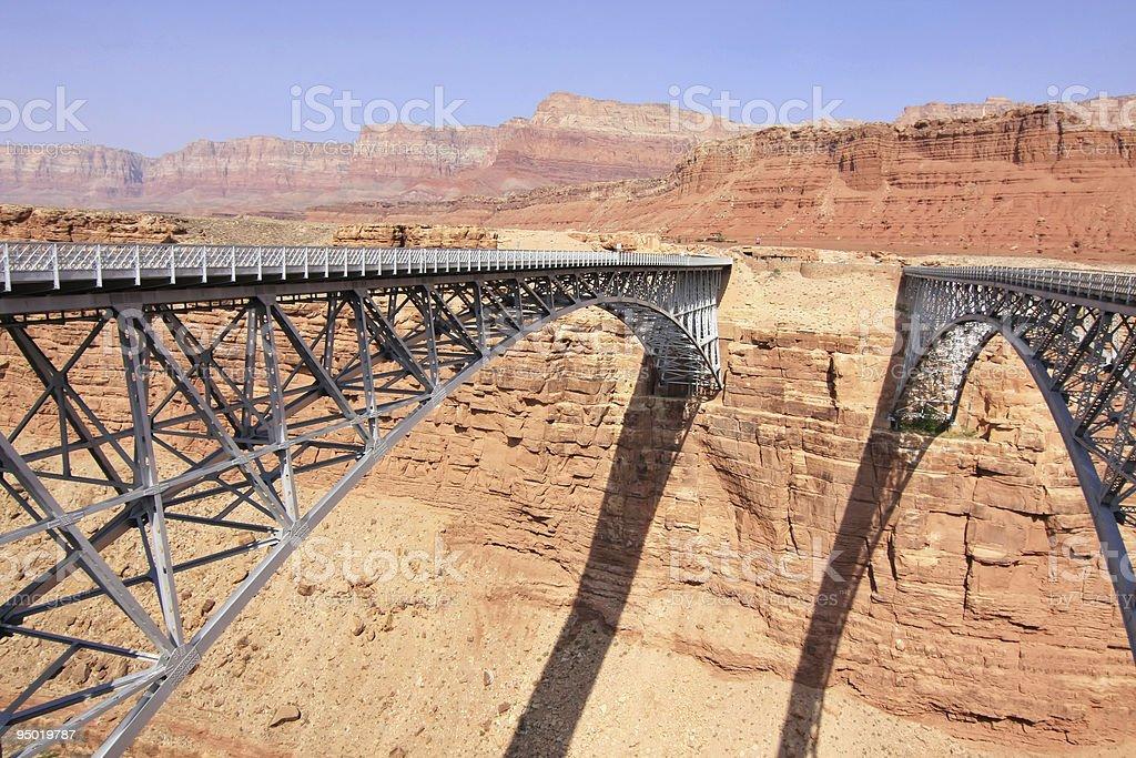 Two bridges acros Colorado river royalty-free stock photo