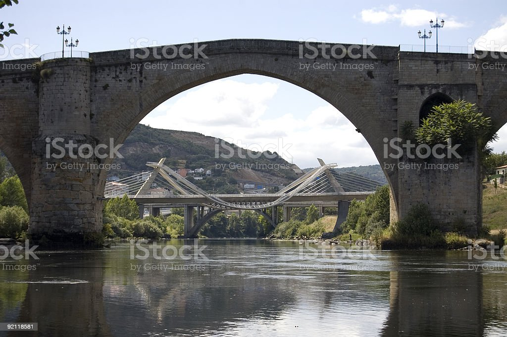 Two bridges in one royalty-free stock photo