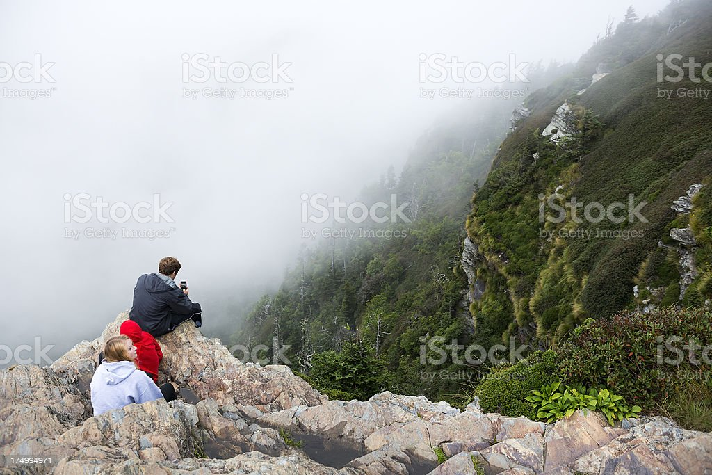 Family vacation in the Smoky Mountains stock photo