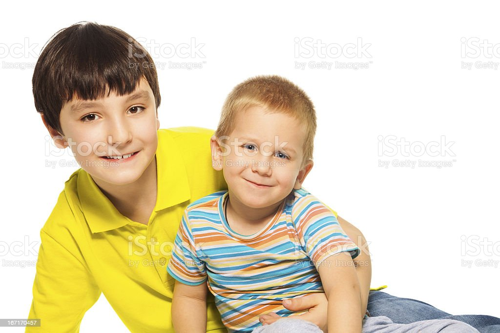 Two brothers royalty-free stock photo