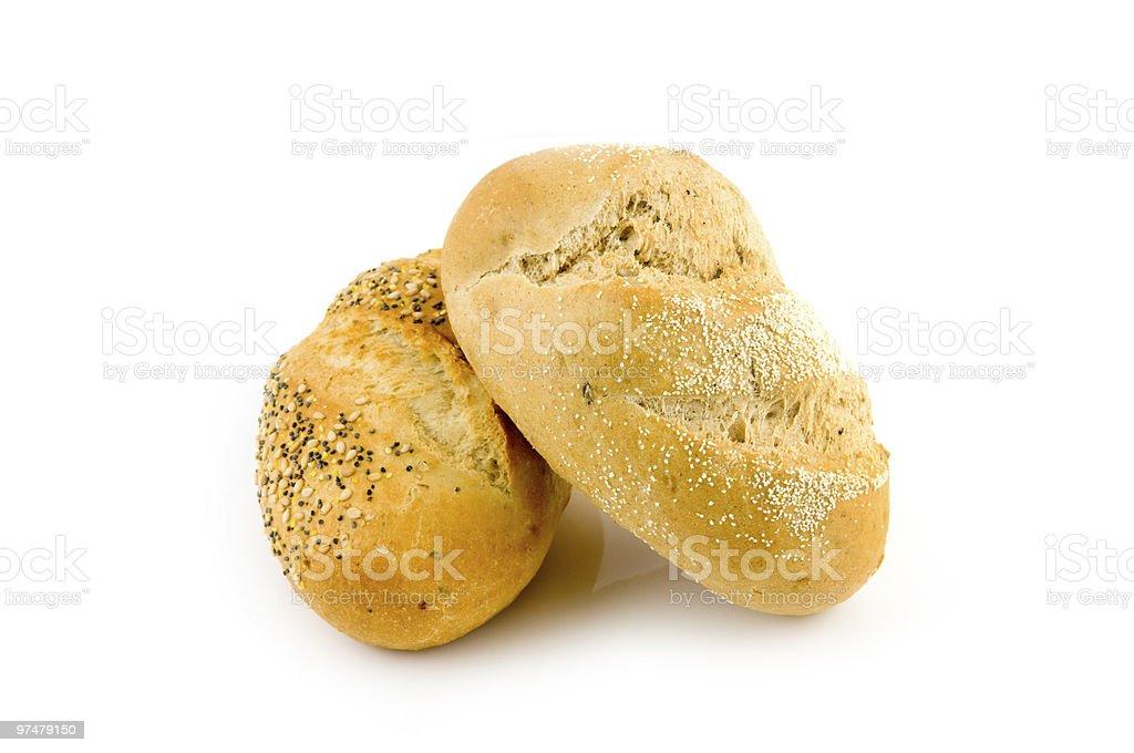 Deux pain brun photo libre de droits