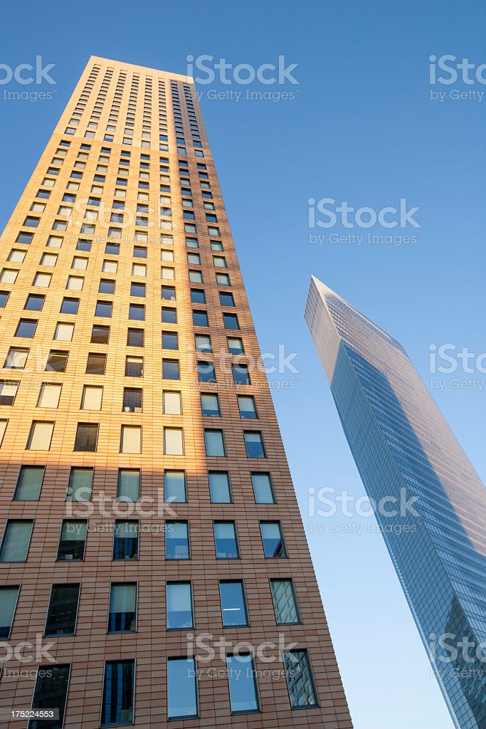 Two buildings and urban landscape. royalty-free stock photo