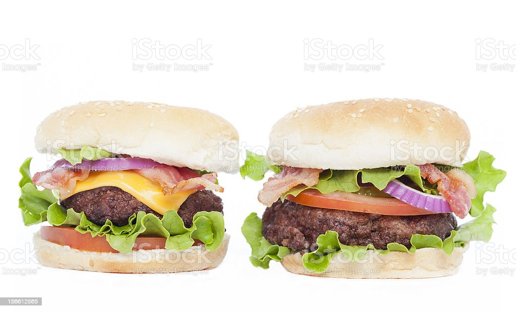 Two burgers royalty-free stock photo