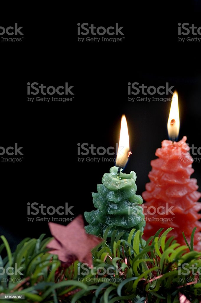 Two Burning Candles royalty-free stock photo
