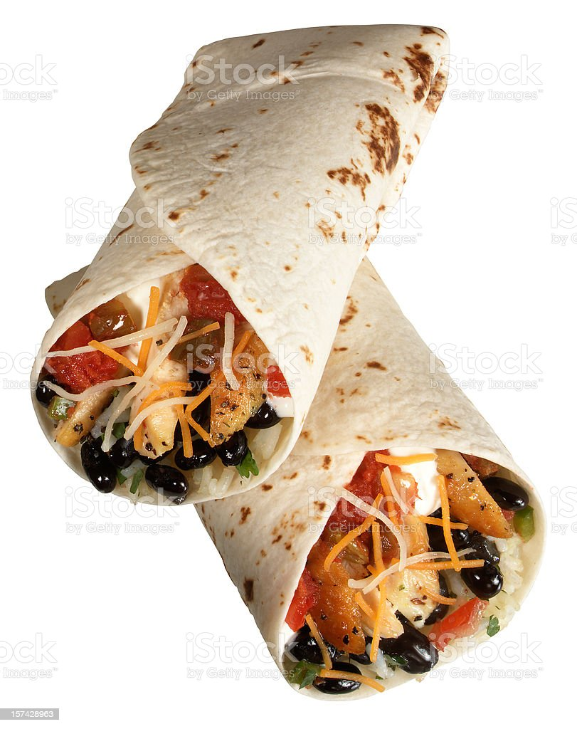 Two Burritos stock photo
