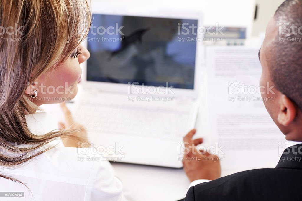 Two business colleague working together. royalty-free stock photo