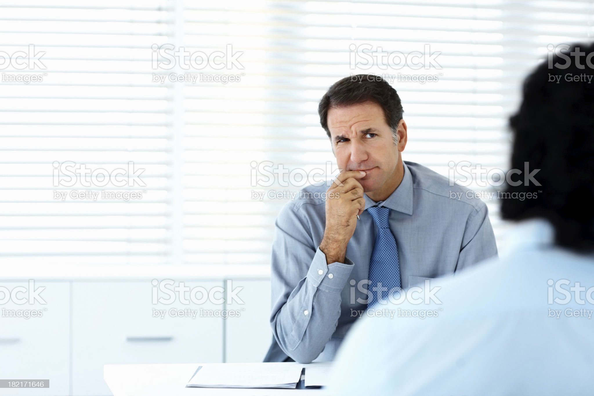 Two business colleagues during a meeting royalty-free stock photo