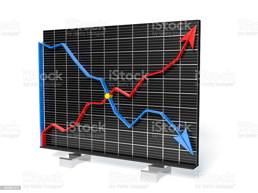Two business graph on measure grid royalty-free stock photo