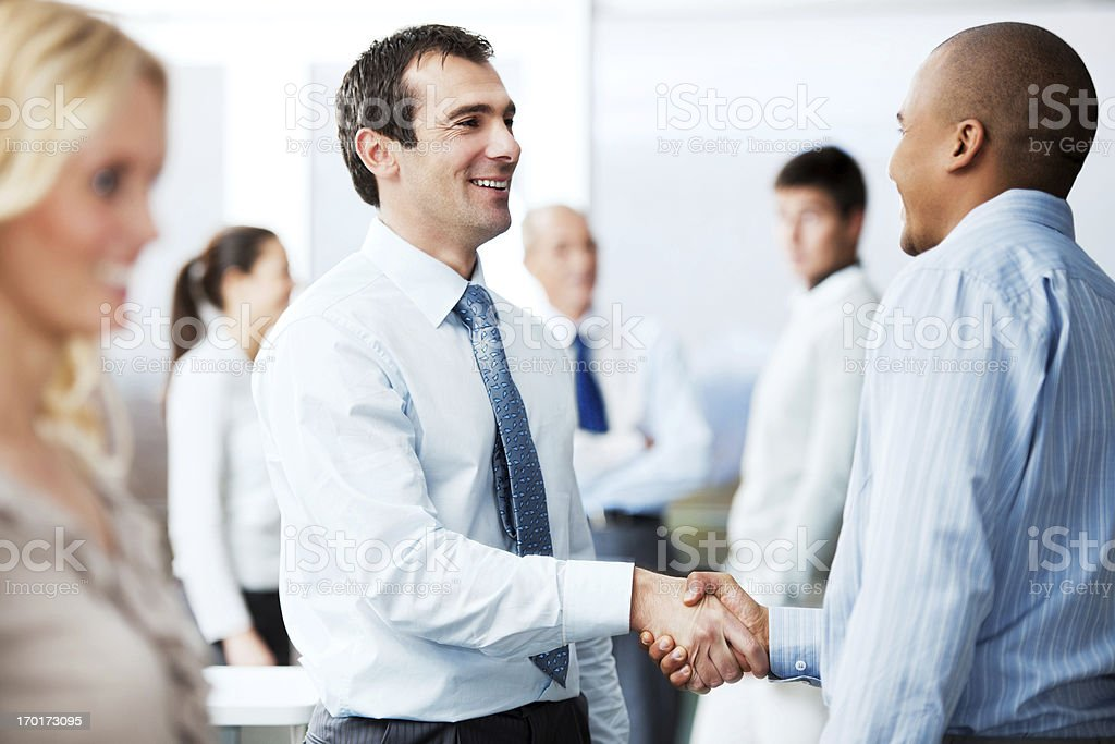 Two business partners making a deal. royalty-free stock photo