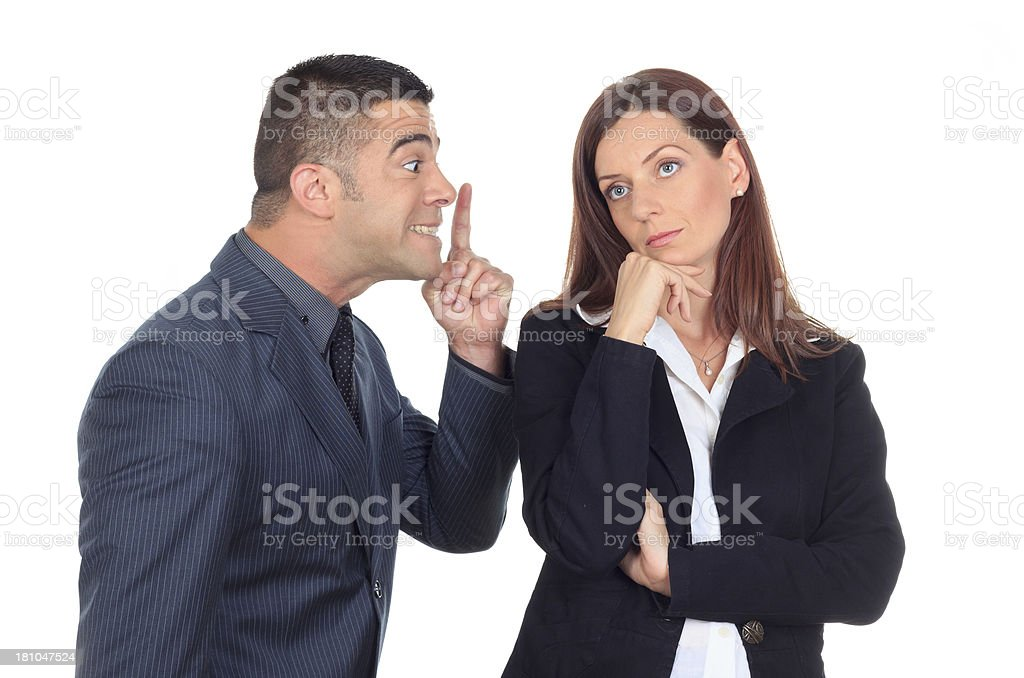 Two business people an argument. stock photo