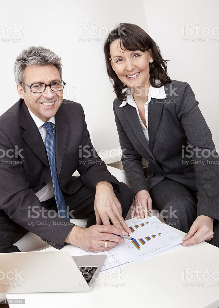 Two business people at the meeting royalty-free stock photo