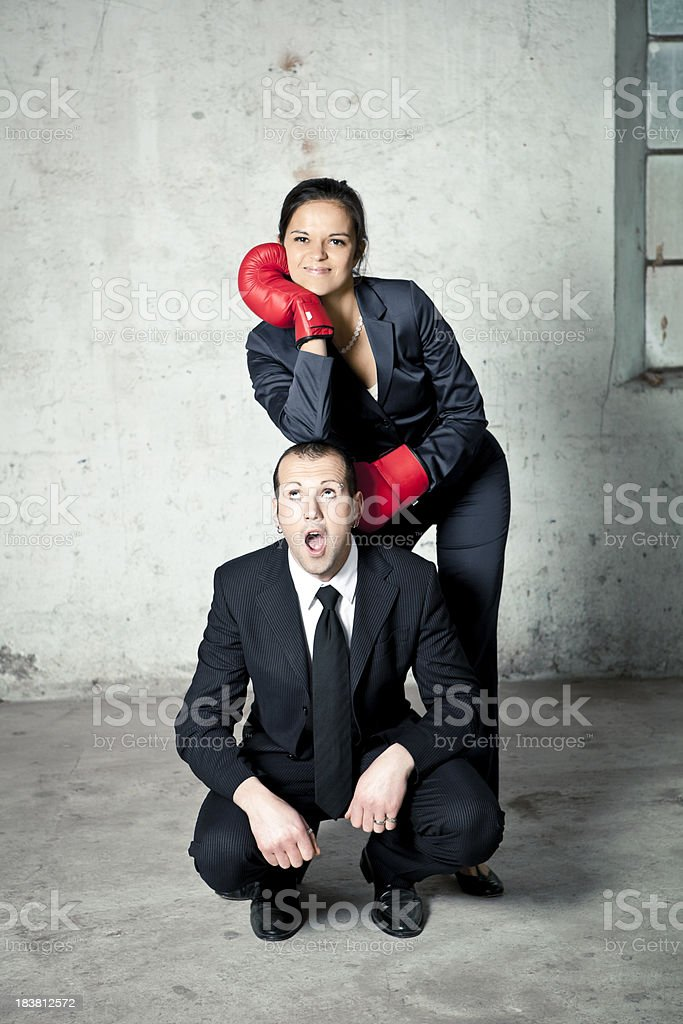 Two business people royalty-free stock photo