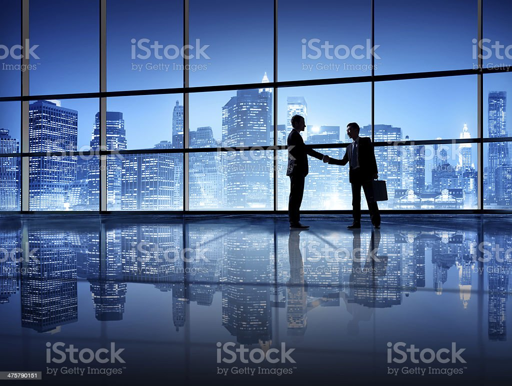 Two Business Person Shaking Hands royalty-free stock photo