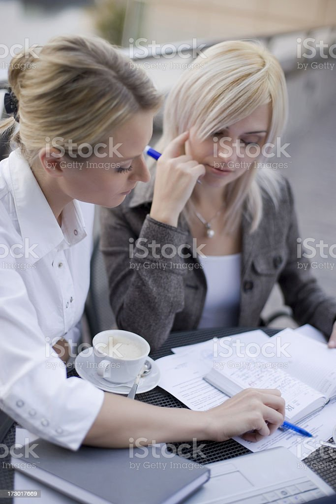Two business women royalty-free stock photo