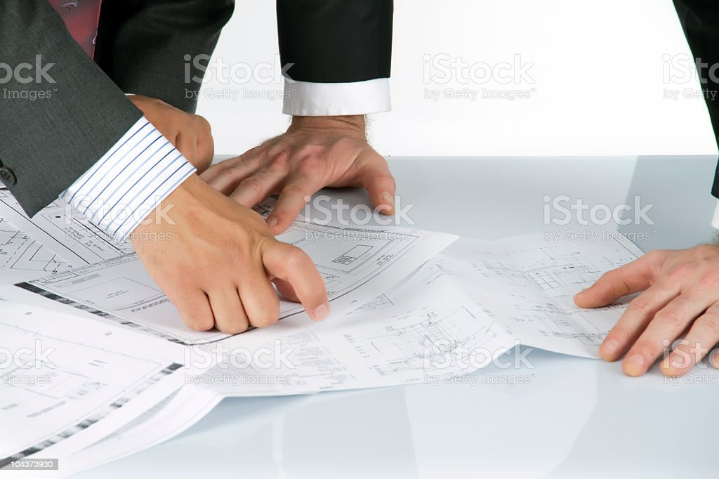 two businessman are working royalty-free stock photo