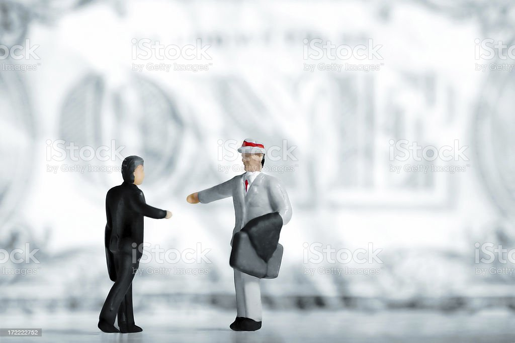 Two businessman figurines royalty-free stock photo