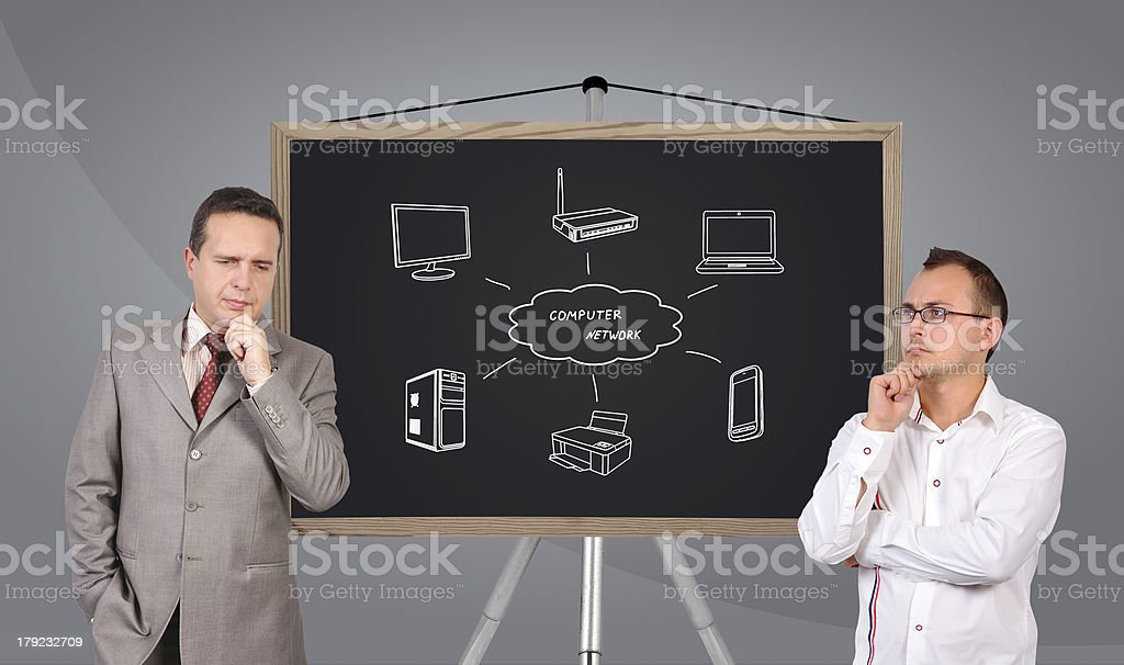 two businessmanand royalty-free stock photo