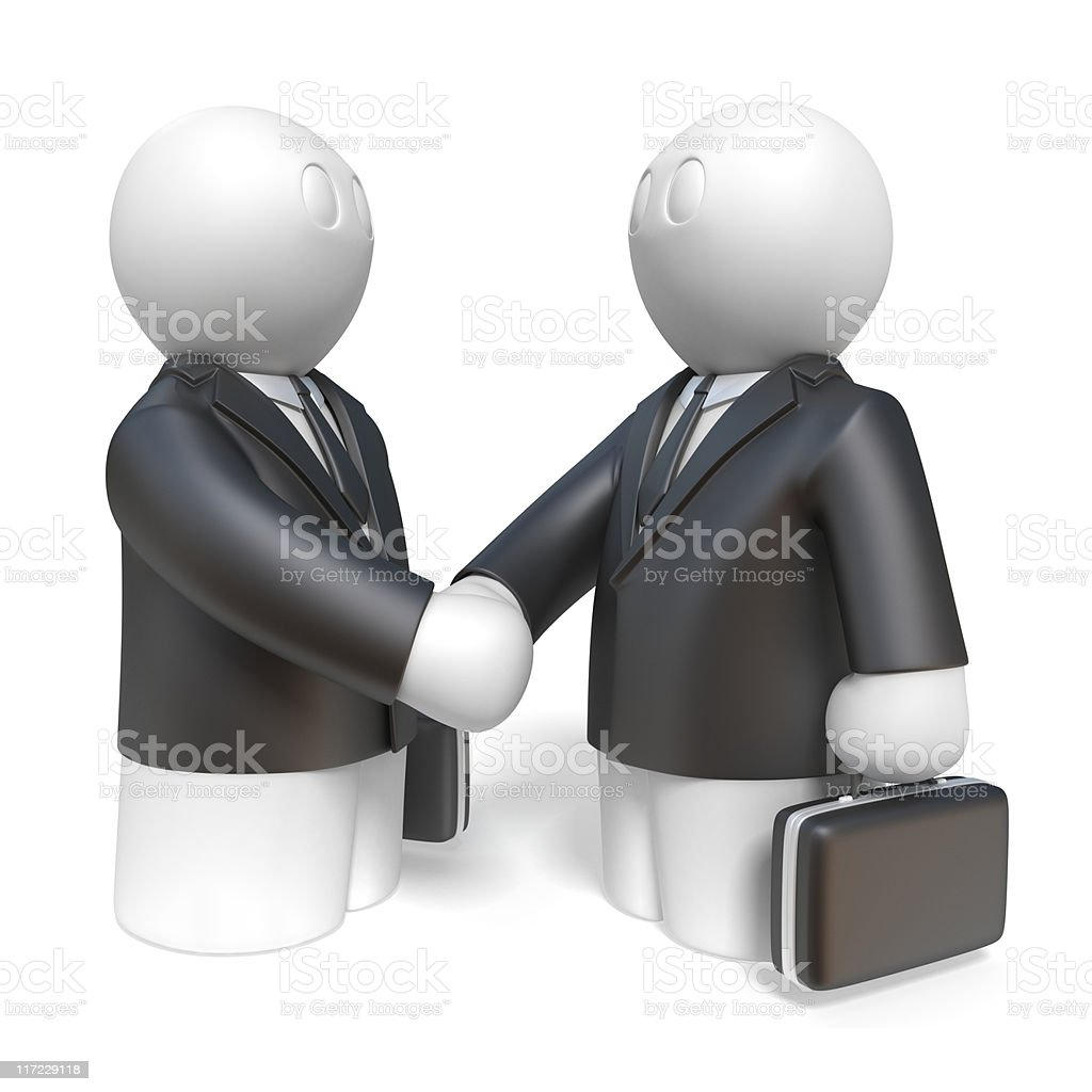 two businessmans royalty-free stock vector art