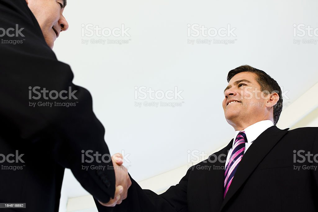 Two businessmen meeting stock photo