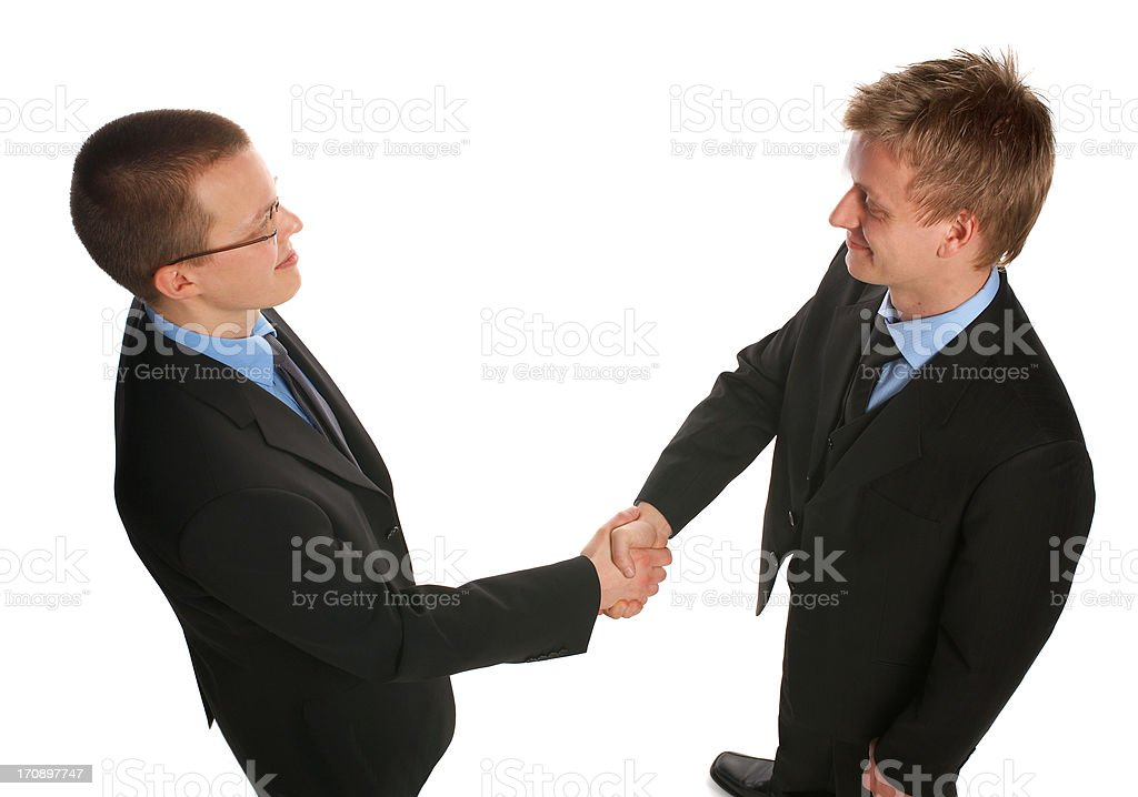 Two businessmen shaking hands. royalty-free stock photo