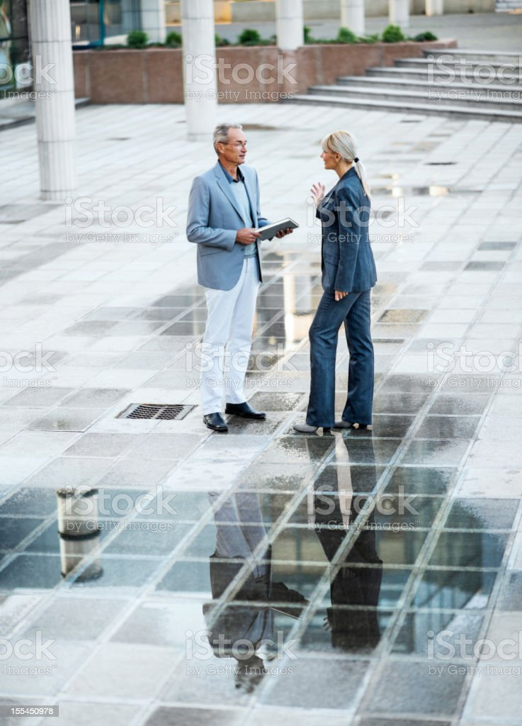 Two businesspeople communicating. royalty-free stock photo