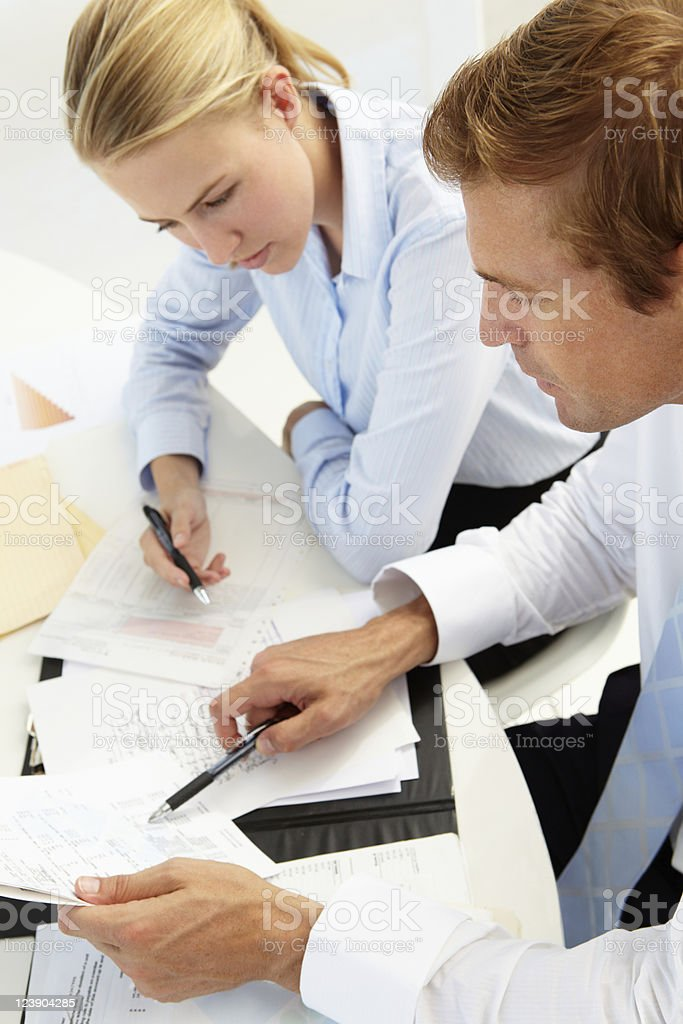 Two businesspeople in a meeting royalty-free stock photo