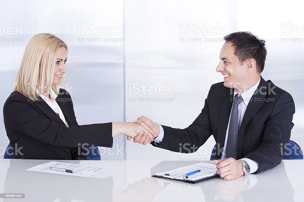 Two Businesspeople Shaking Hand royalty-free stock photo