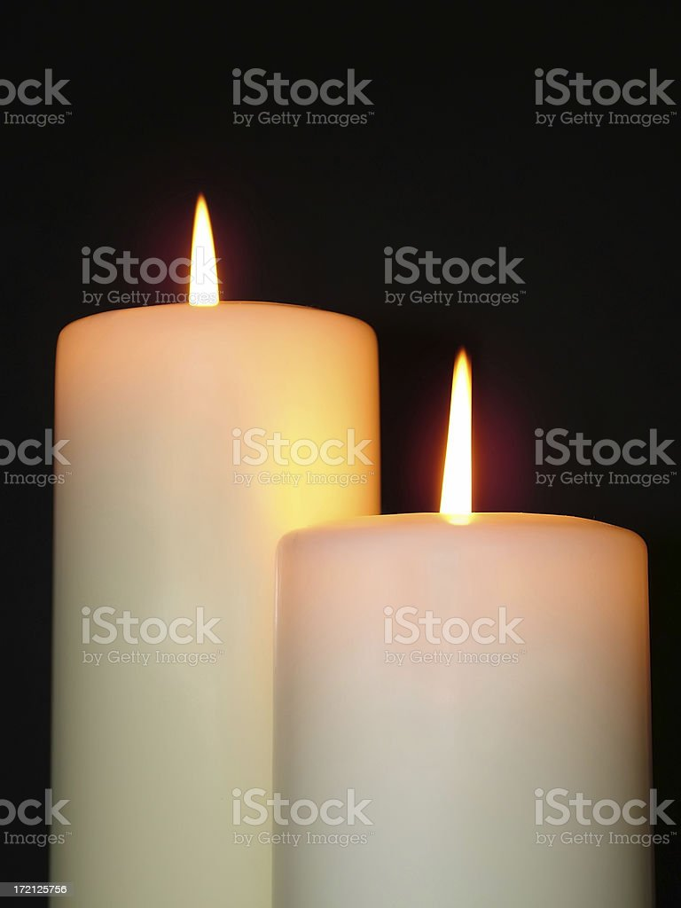 Two Candles royalty-free stock photo