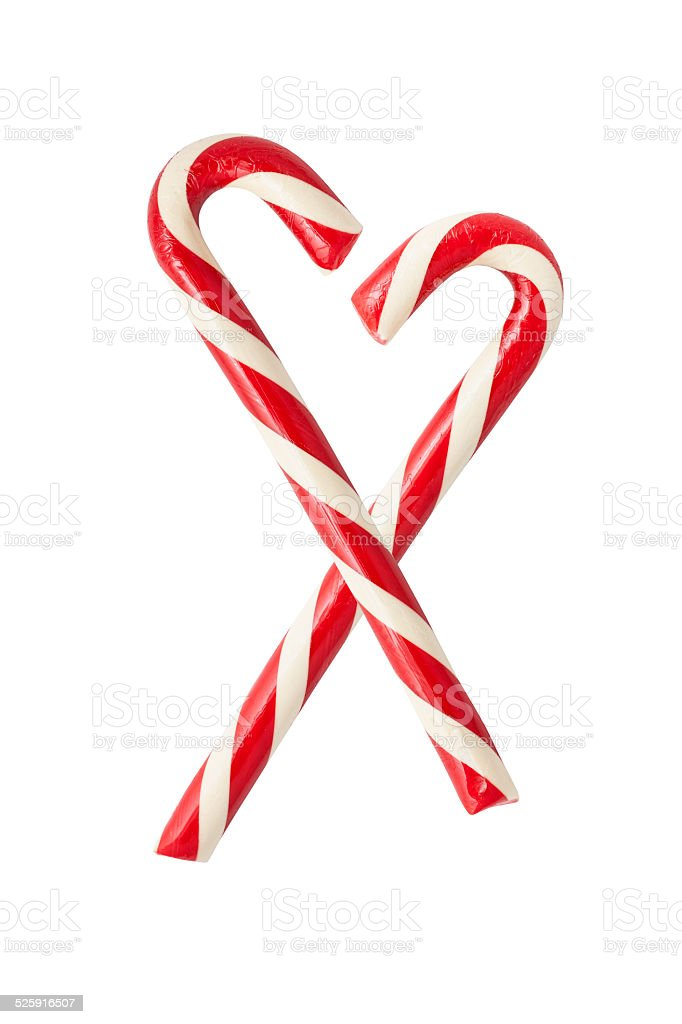 Two candycanes stock photo