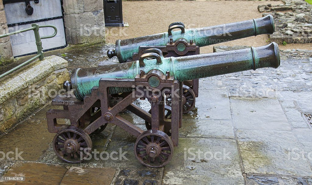 two cannon royalty-free stock photo