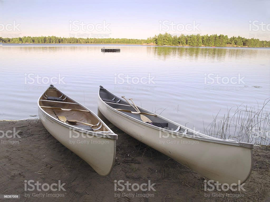 Two Canoes royalty-free stock photo