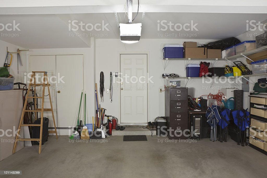Two Car Garage stock photo